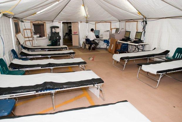 راه اندازی بیمارستان صحرایی در تازه آباد