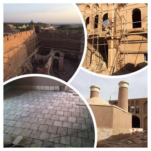 سرانجام فاز دوم عملیات مرمت قلعه تاریخی دهشیر