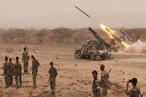 عملیات مشترک پهپادی و توپخانه ای یمنی ها علیه مواضع مزدوران