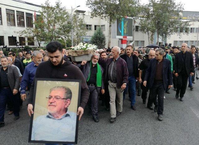 پیکر اولین استاندار گلستان تشییع شد