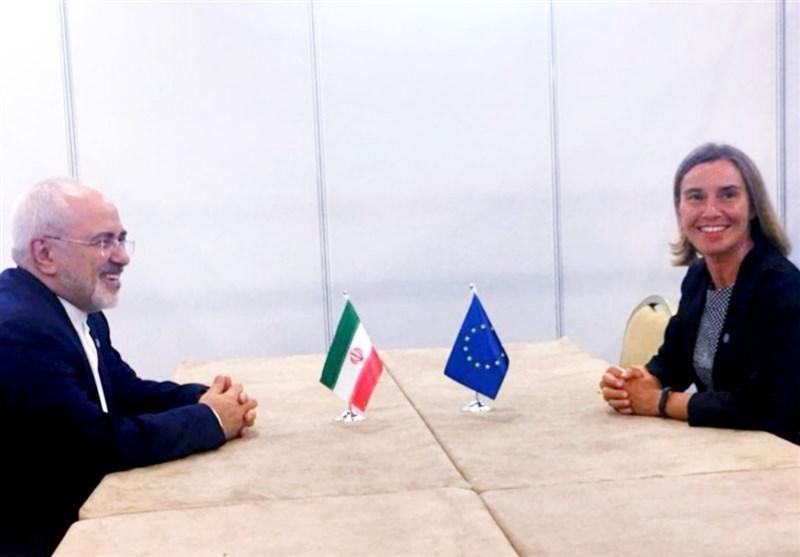 ظریف با موگرینی درباره برجام گفت وگو کرد