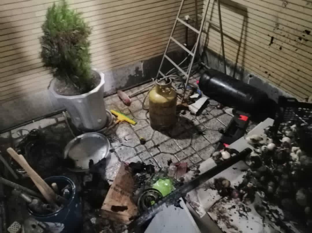 دو مصدوم در آتش سوزی سیلندر گاز