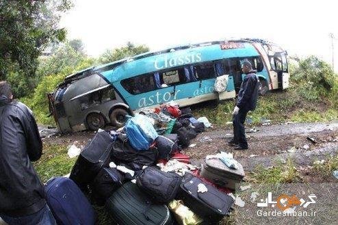 سقوط اتوبوس گردشگران از روی پل در برزیل