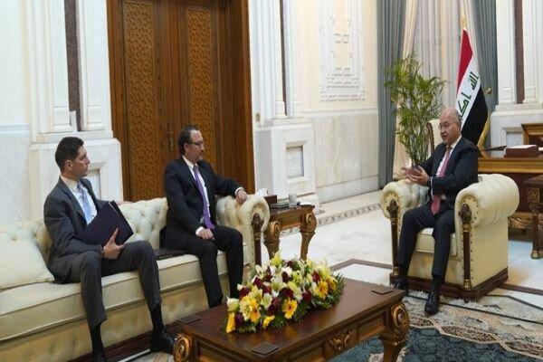 معاون وزیر خارجه آمریکا با برهم صالح ملاقات کرد