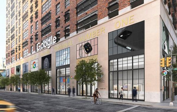 گوگل نخستین فروشگاه فیزیکی خود را در نزدیکی یک اپل استور راه اندازی کرد