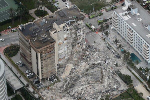 ریزش یک آپارتمان در فلوریدای آمریکا، دهها تن مفقود شدند
